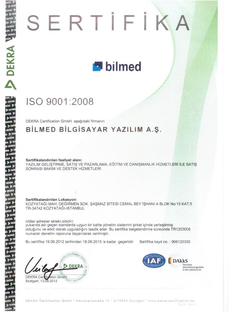 ISO9001_Bilmed_Dekra_2012_TR